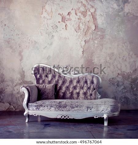 Stok fotoğraf: Barok · kanepe · eski · kraliyet · iç · mimari · lüks