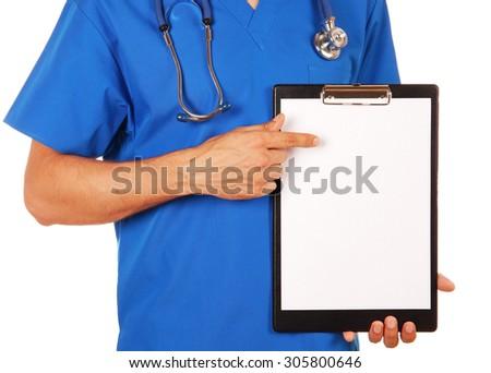 médico · médico · mulher · assinar · clipboard - foto stock © nobilior