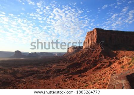sunrise · valle · USA · tramonto · panorama · rosso - foto d'archivio © phbcz