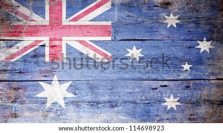 avustralya · bayrak · grunge · Avustralya · kırmızı · beyaz - stok fotoğraf © vepar5