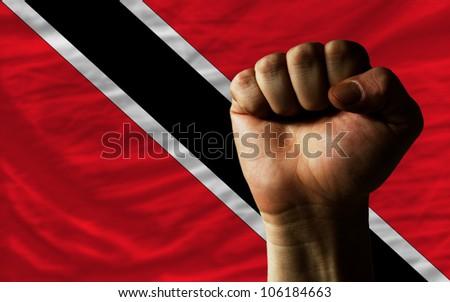 complete waved national flag of trinidad tobago for background   Stock photo © vepar5