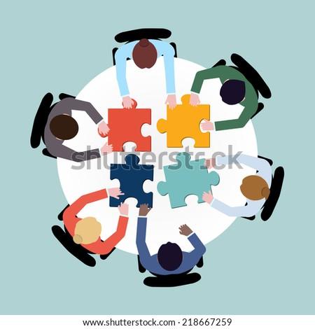 tiempo · grupo · solución · red · calendario · gestión - foto stock © tashatuvango