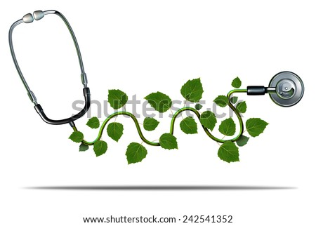natural medicine concept with a Stethoscope illustration design  Stock photo © alexmillos