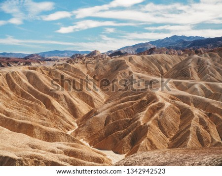 picturesque soft waves from multi coloured sandstone death vall stock photo © meinzahn