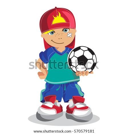 pequeno · menino · jogar · vermelho · bola · corrida - foto stock © meinzahn