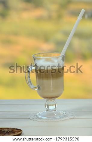 コーヒーカップ ウィンドウ 緑 リラックス オフィス 木材 ストックフォト © phila54