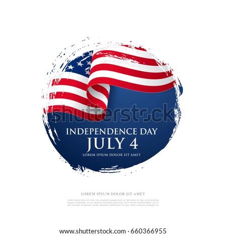 Americano dia círculo bandeira americana azul Foto stock © bharat
