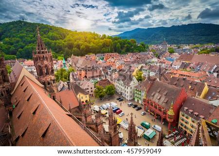 The Freiburger Muenster in Freiburg im Breisgau, Germany, Europe Stock photo © meinzahn