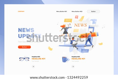 newspaper news media concepts illustration design over a white b stock photo © alexmillos