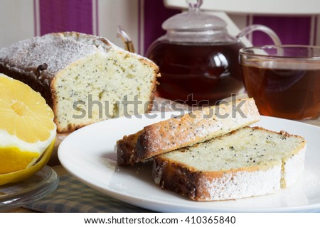 a slice of bread with poppy seeds with cottage cheese and radish sprouts stock photo © pixelman