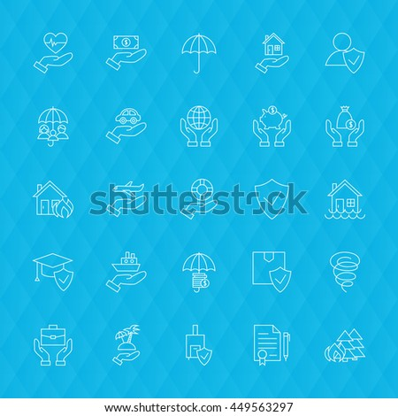 health care and medical line icons set over polygonal blurred ba stock photo © anna_leni