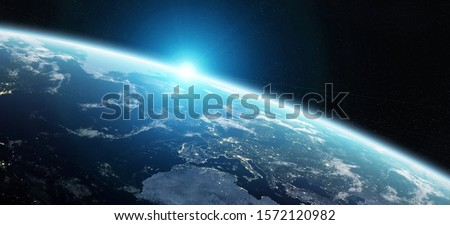 Eclipse on the planet Earth Stock photo © sdecoret