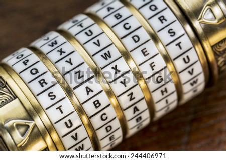 пароль ключевое слово комбинация головоломки окна кольцами Сток-фото © PixelsAway