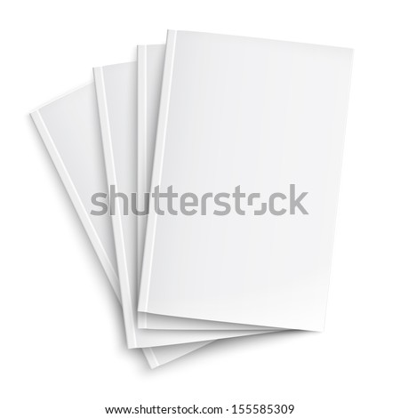 Stock fotó: Stack Of Blank Book Template On White Background With Soft Shad