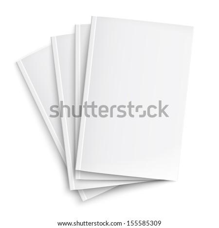 üres · papír · brosúra · árnyékok · izolált · fehér · felfelé - stock fotó © netkov1