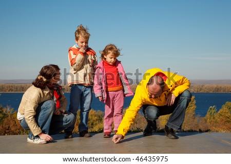 家族 · 4 · 太陽 · 秋 · 日 - ストックフォト © Paha_L