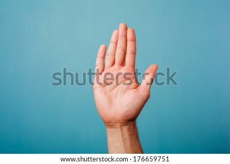 Stok fotoğraf: Eller · başparmak · bulut · gökyüzü · el