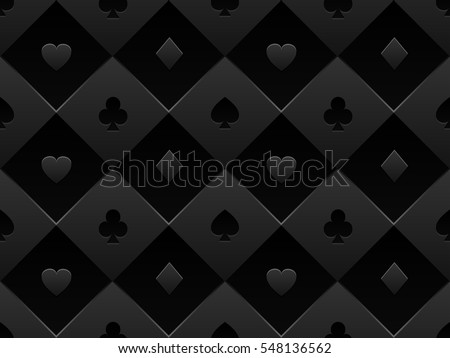 Minimalistic black poker background with seamless texture composed from card symbols Stock photo © liliwhite