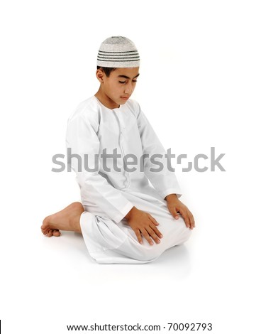 islamic pray explanation full serie arabic child showing complete muslim movements while praying s stock photo © zurijeta