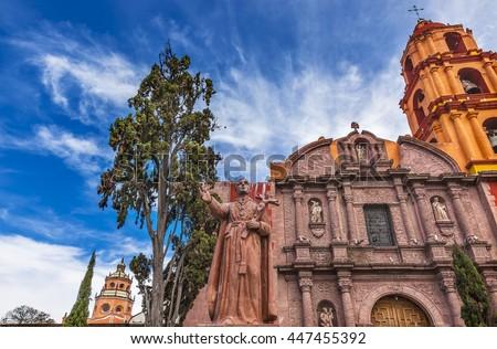 Templom homlokzat Mexikó Florence katolikus rendelés Stock fotó © billperry
