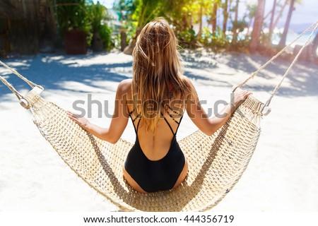 красивой Swing экзотический пляж Сток-фото © Victoria_Andreas