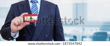 Hitelkártya Libanon zászló bank prezentációk üzlet Stock fotó © tkacchuk