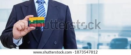 Hitelkártya Litvánia zászló bank prezentációk üzlet Stock fotó © tkacchuk