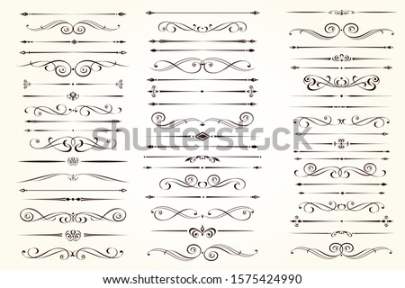 intage and filigree decoration. Ornate frames and scroll swirls element. Divider element. Isolated o Stock photo © khabarushka