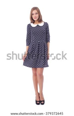 Mulher vestir imprimir isolado branco Foto stock © Nobilior