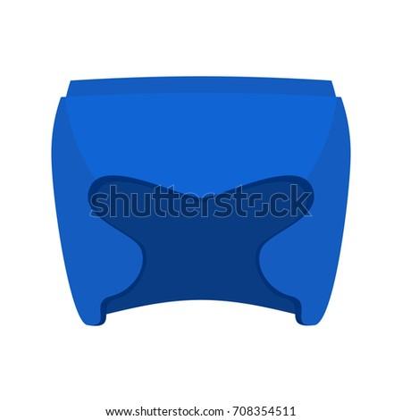Boxing helmet blue. Boxer mask isolated. Spor Accessory for trai Stock photo © popaukropa