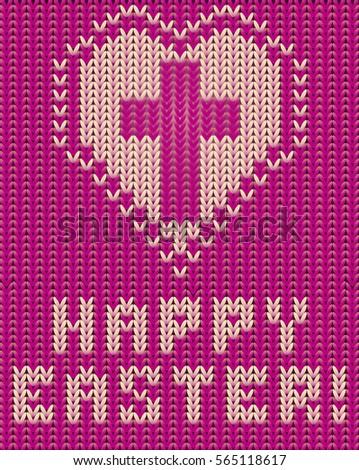 iyi · paskalyalar · örgü · kart · çapraz · kalp · sevmek - stok fotoğraf © carodi