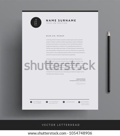 抽象的な ビジネス レターヘッド テンプレート ベクトル デザイン ストックフォト © SArts