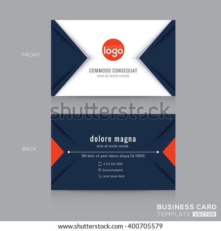 blue business card minimal template with abstract triangle patte Stock photo © SArts