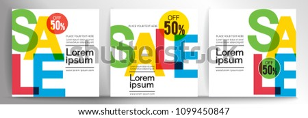 half price sale brochure flyer promotional template in yellow an stock photo © sarts