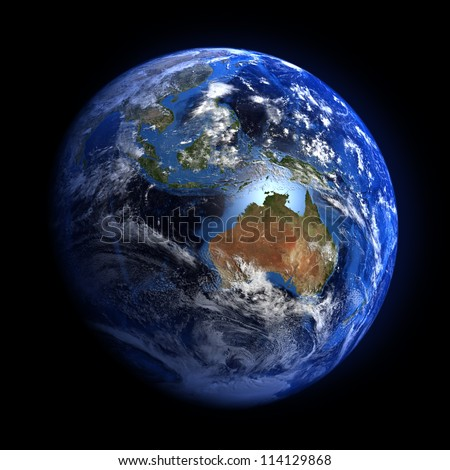 The Earth from space showing Australia and Indonesia. Other orientations available. Stock photo © Hermione