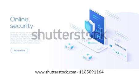 mobiltelefon · biztonság · mobiltelefon · pajzs · lánc · körül - stock fotó © tussik