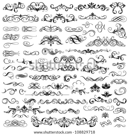 dizayn · elemanları · sayfa · dekorasyon · vektör - stok fotoğraf © blue-pen