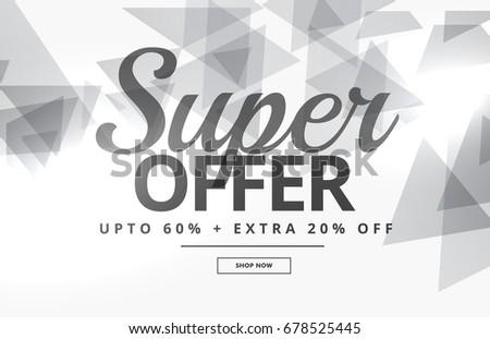 супер продажи баннер ваучер дизайна серый Сток-фото © SArts