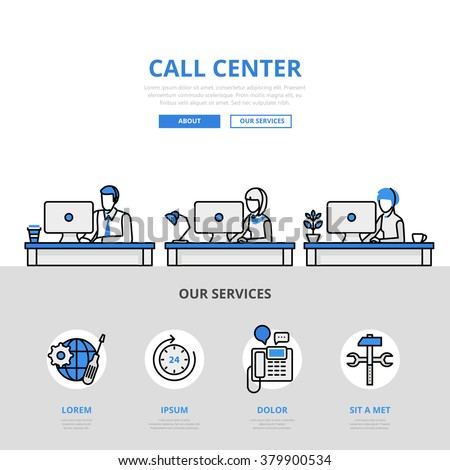 Call center usuário apoiar projeto elementos Foto stock © masay256