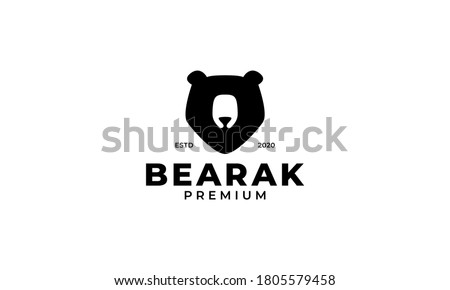 Bear head isolated on white background. Sport team mascot. Desig Stock photo © masay256