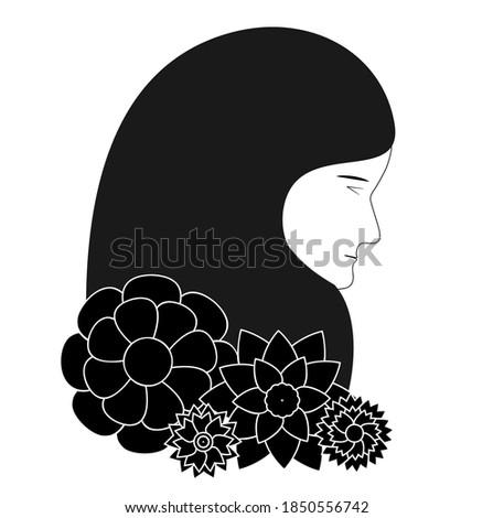 Muslim arab iran business woman vector flat illustration isolate Stock photo © NikoDzhi