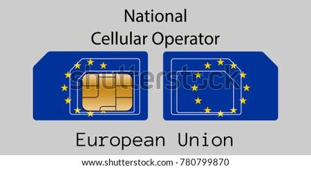 Európai szövetség mobil kezelő kártya zászló Stock fotó © Leo_Edition