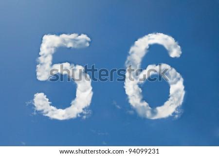 Nombre nuage police symbole blanche alphabet Photo stock © popaukropa