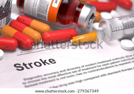 Diagnose warmte medische wazig lichtgroen pillen Stockfoto © tashatuvango