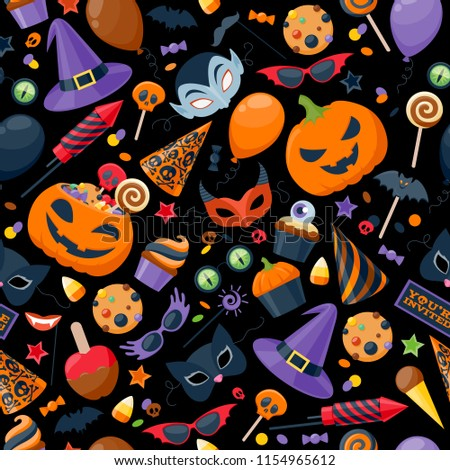 halloween cookie seamless pattern background cookies for terrib stock photo © maryvalery
