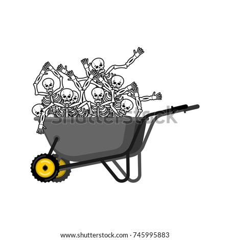 Kruiwagen skelet tuin vector metaal schreeuw Stockfoto © popaukropa