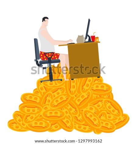számítógép · bányászat · bitcoin · vektor · farm · virtuális - stock fotó © maryvalery