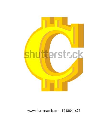Levél bitcoin betűtípus ábécé virtuális pénz Stock fotó © popaukropa