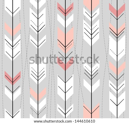 Aztec seamless vector pattern with arrows, Indian navajo fabric design, Tribal art Stock photo © RedKoala