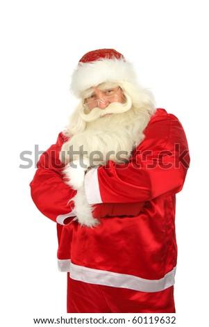 Дед Мороз лице улыбка счастливым современных изолированный Сток-фото © NikoDzhi